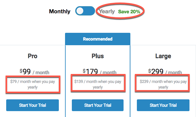 How to price annually